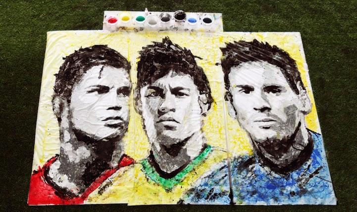 retrato-pintura-con-balon-de-futbol-messi-ronaldo