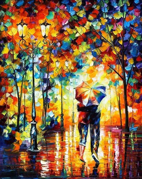Leonid Afremov-lluvia