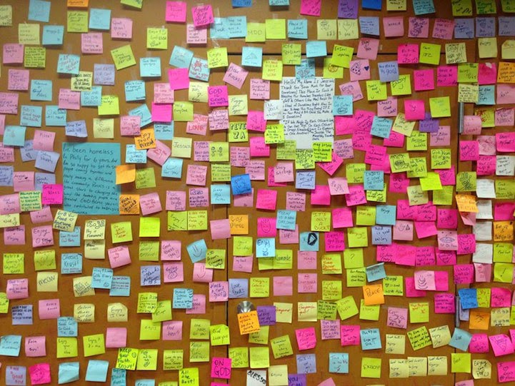 rosas pizza - postits