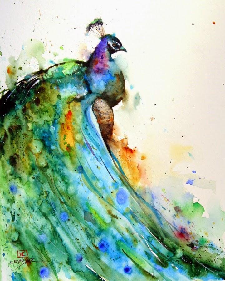 pavo real-acuarela-crouser-2